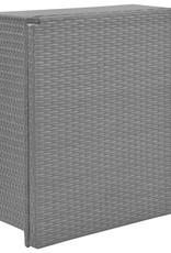 vidaXL 5-delige Tuinset inklapbaar poly rattan zwart