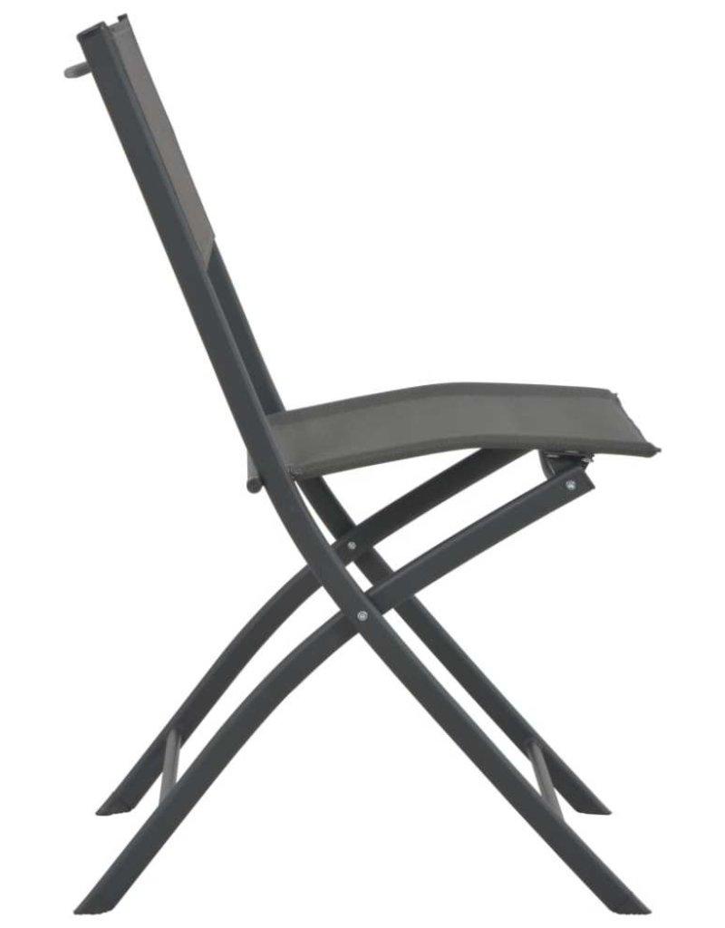 vidaXL 5-delige Tuinset inklapbaar staal en textileen