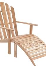 vidaXL Adirondack stoel met voetensteun teakhout