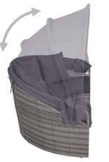 vidaXL 4-delige Loungeset voor buiten poly rattan grijs