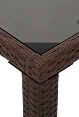 vidaXL 6-delige Tuinset met kussen poly rattan bruin
