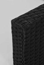 vidaXL 3-delige Bistroset met kussens poly rattan en acaciahout zwart