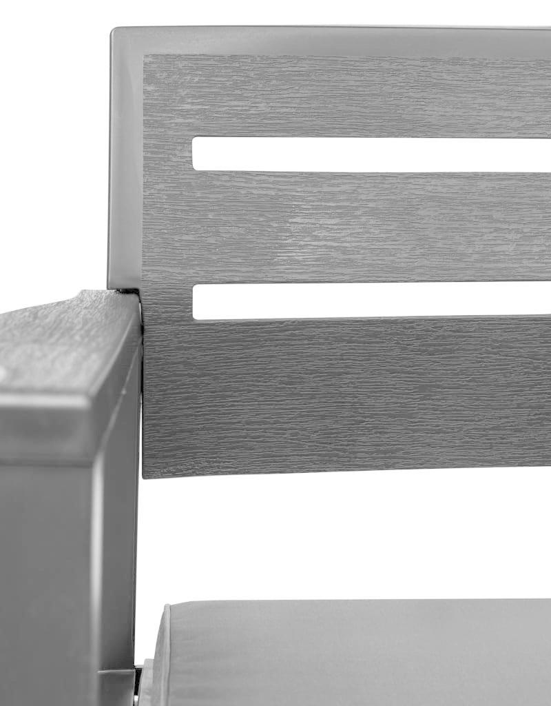vidaXL 4-delige Loungeset kunststof antraciet
