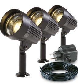 Garden Lights LED-spotlicht Corvus aluminium 3 st 3154013