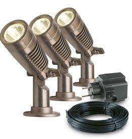 Garden Lights Tuin spotlights Minus aluminium 3 st 3096123