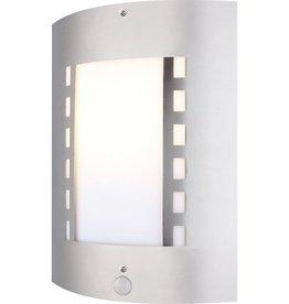 GLOBO Wandlamp voor buiten met sensor ORLANDO mat nikkel 3156S