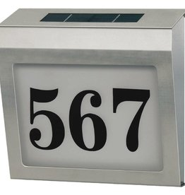 Brennenstuhl Huisnummerbord op Zonne-Energie Verlicht RVS