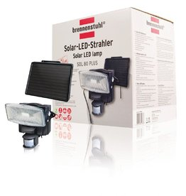 Brennenstuhl solar LED beveiligingslamp bewegingssensor (zwart)
