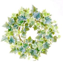 Emerald Kunstplant klimop krans groen en wit 35 cm 416347