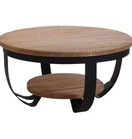 Home&Styling Home&Styling Salontafel 70x35 cm teakhout en metaal