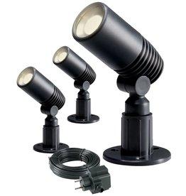 Garden Lights LED Spotlicht Alder 2 W antraciet 3 stuks 2580063