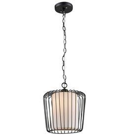GLOBO Hanglamp STACY zwart 26 cm 15271