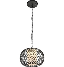 GLOBO Hanglamp STACY zwart 40 cm 15270