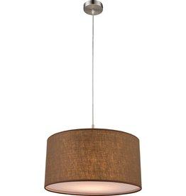 GLOBO Hanglamp BETTY stof bruin 15186H