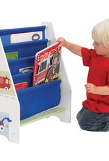 Worlds Apart Kinderboekenkast Trucks and Tractors wit WORL230007