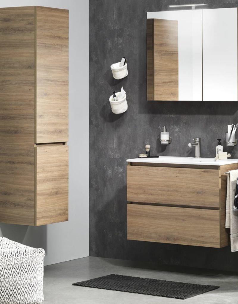 Tiger Badkamer meubelset Loft 80 cm eikenhout wit 1644323202