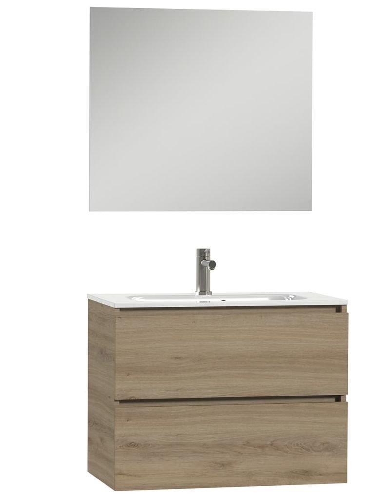 Tiger Badkamer meubelset Loft 80 cm eikenhout wit 1644323200