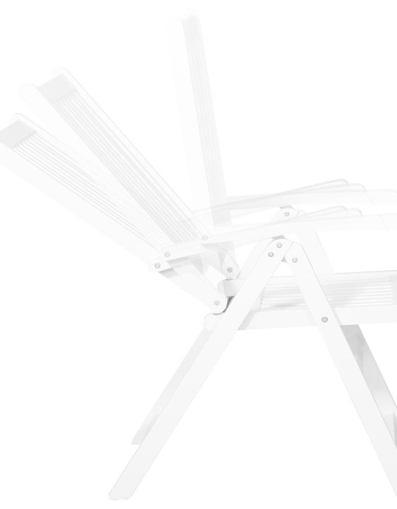 vidaXL Eetkamerstoelen inklapbaar 2 st massief acaciahout wit