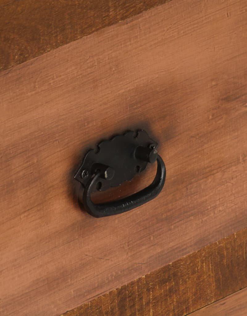 vidaXL Salontafel met 2 lades 90x40x50 cm massief mangohout