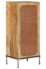 vidaXL Ladekast 45x35x106 cm massief mangohout