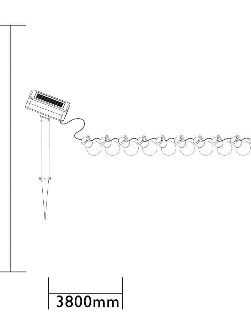 Luxform Feestverlichting op batterijen met 10 LED's Menorca transparant