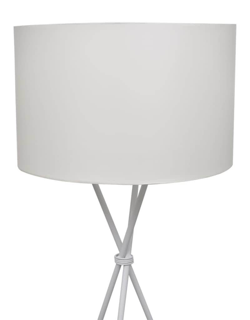 vidaXL Vloerlamp inclusief lampenkap 139 cm wit