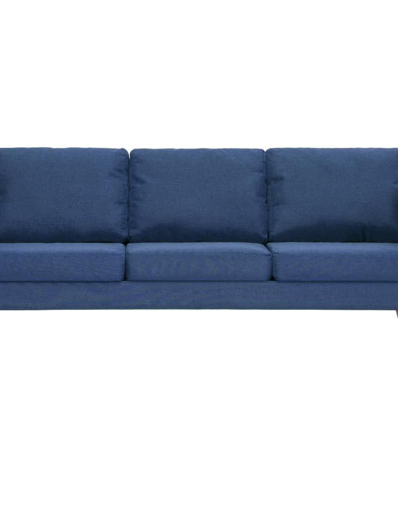 vidaXL 2-delig Bankstel stof blauw