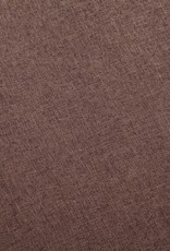 vidaXL 2-delig Bankstel stof bruin