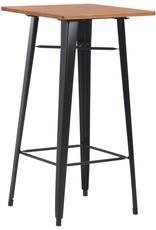 vidaXL 3-delige Barset staal bruin zwart