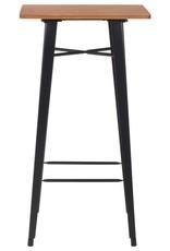 vidaXL 3-delige Barset staal zwart