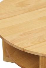 vidaXL Salontafel 75x40 cm massief eikenhout