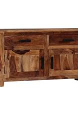 vidaXL Dressoir 100x30x50 cm massief sheeshamhout