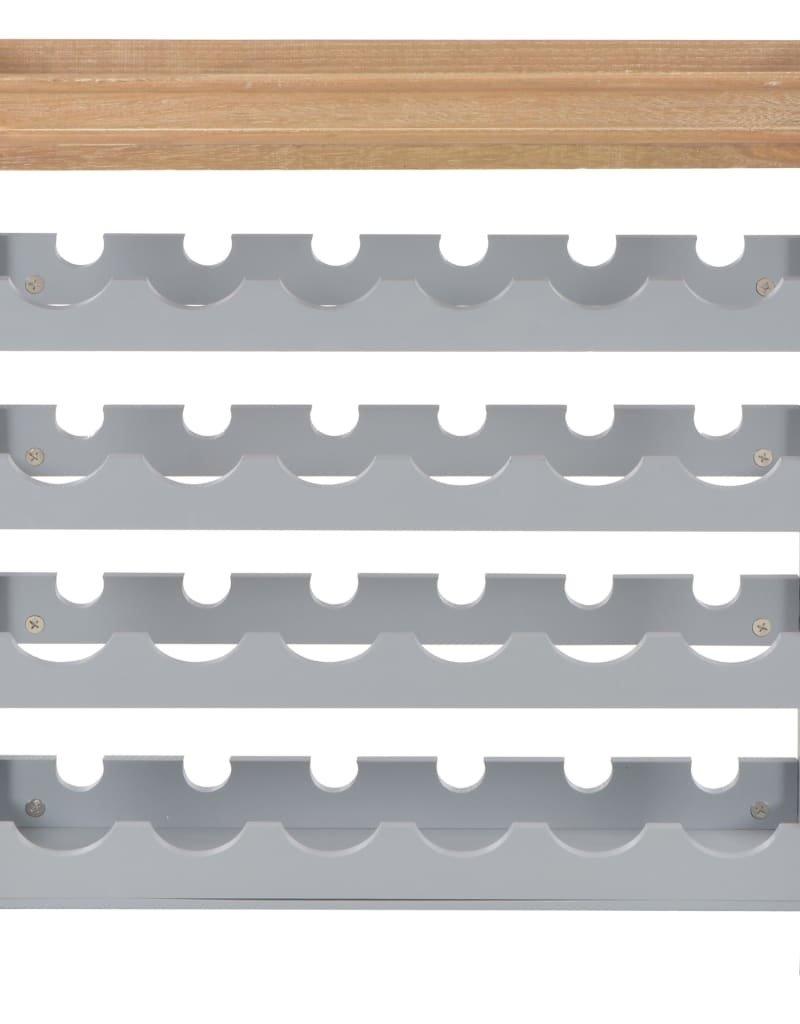 vidaXL Wijnkast 70x22,5x70,5 cm mdf bruin en grijs