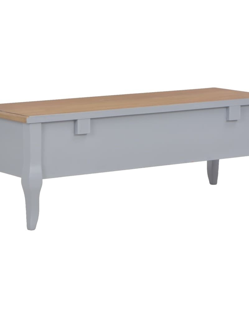 vidaXL Tv-meubel 100x35x35 hout bruin en grijs