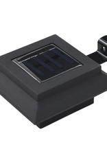 vidaXL LED-solarlampen vierkant 12 cm zwart 6 st