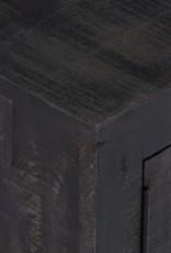 vidaXL Tv-meubel 118x30x40 cm massief mangohout zwart