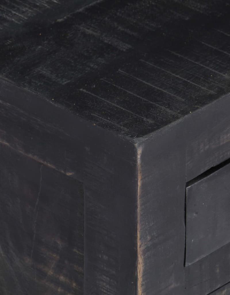 vidaXL Salontafel 65x65x30 cm massief mangohout zwart
