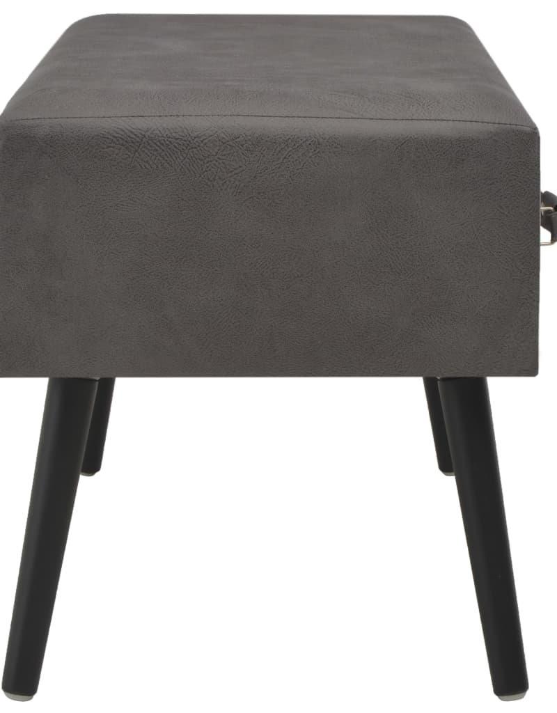 vidaXL Salontafel 80x40x46 cm kunstleer grijs