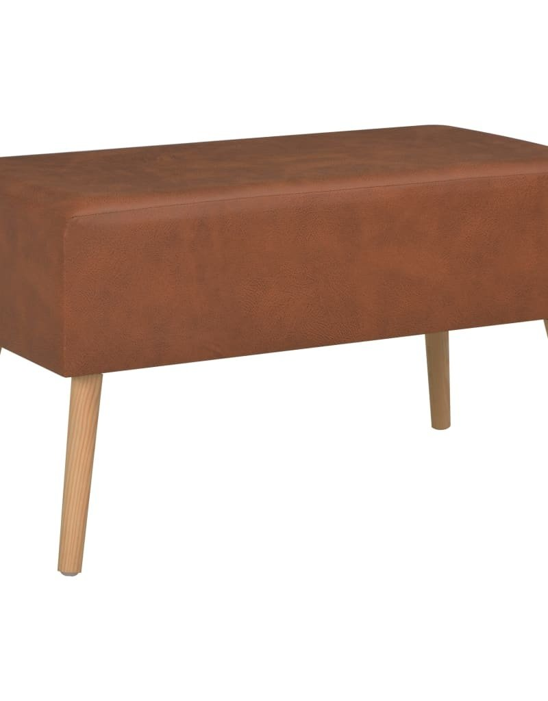 vidaXL Salontafel 80x40x46 cm kunstleer bruin