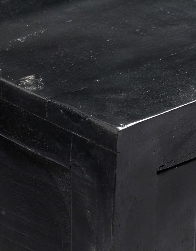 vidaXL Dressoir 147x40x80 cm massief mangohout zwart
