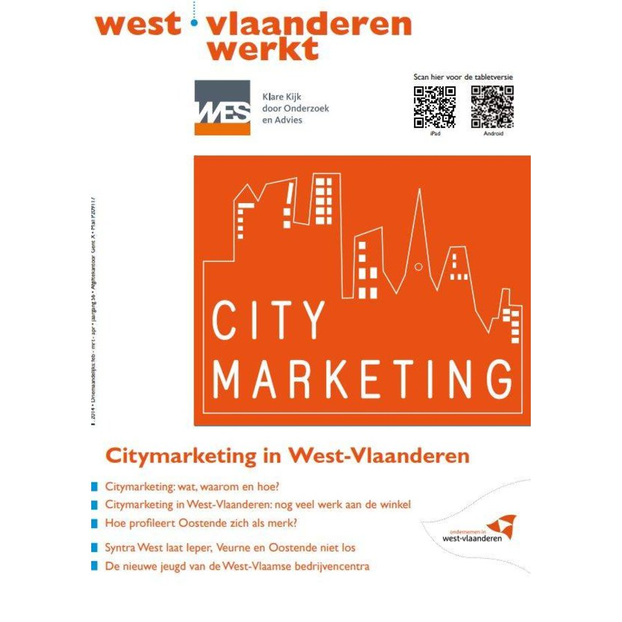West-Vlaanderen Werkt 2014 | Nummer 1 | Citymarketing in West-Vlaanderen-1