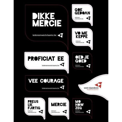 Stickervel - Dikke mercie
