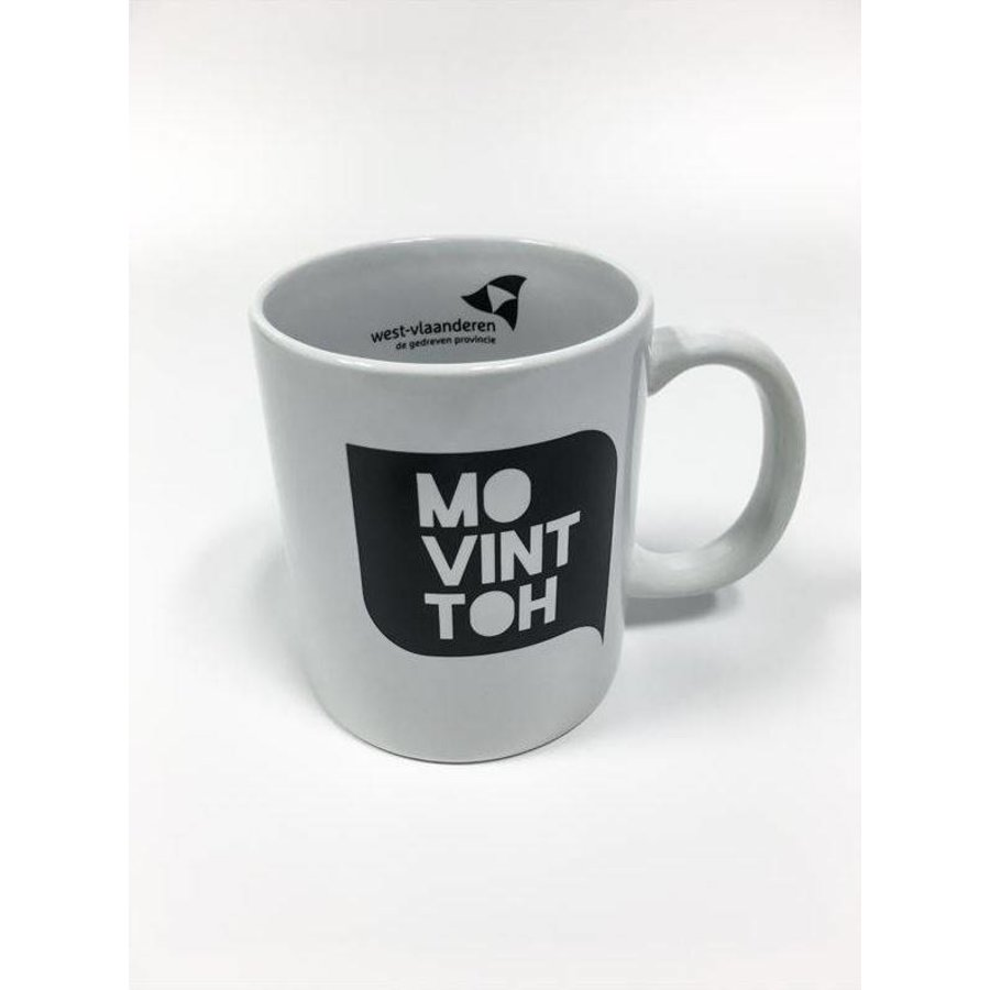 Koffiemok Wit - 'Mo vint toh'-1