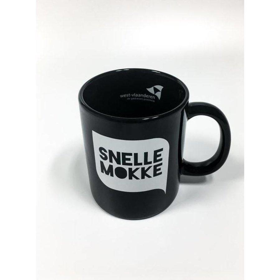 Koffiemok Zwart - 'Snelle Mokke'-1
