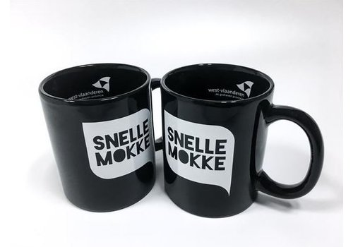 Set van 2 koffiemokken 'Snelle Mokke' (zwart + zwart)