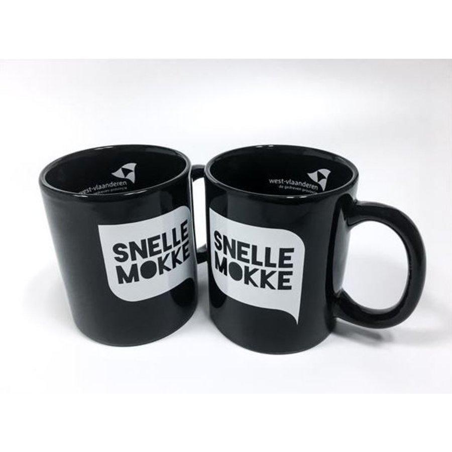 Set van 2 koffiemokken 'Snelle Mokke' (zwart + zwart)-1