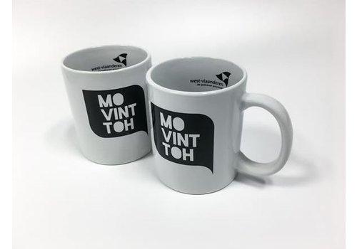 Set van 2 koffiemokken 'Mo vint toh' (wit + wit)