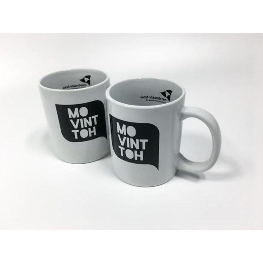 Set van 2 koffiemokken 'Mo vint toh' (wit + wit)-1