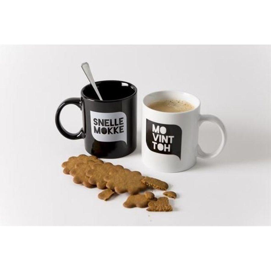 Set van 2 koffiemokken (zwart + wit)-1