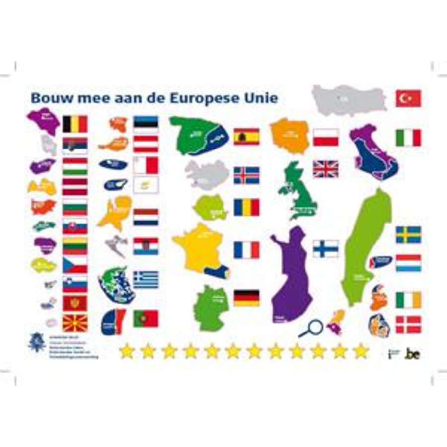 Stickerpuzzel 'Bouw mee aan de EU 2014'-1